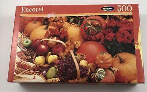 Encore Country Pumpkin Puzzle 500 Pieces Fall Autumn Theme 2008 Mega Brand