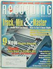RECORDING MAGAZINE TRACK MIX AND MASTER 9 NEW PRODUCT REVIEWS DECEMBER 2007 RARE