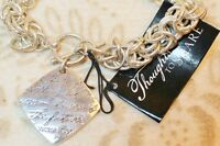 Giftcraft Thoughts to Share Silver Tone Chain Link Toggle Bracelet Future