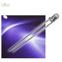 10 Schwarzlicht LEDs 3mm wasserklar UV violett lila LED