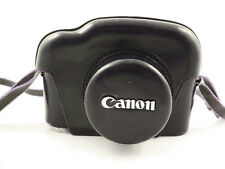 VINTAGE BROWN LEATHER CANON P RANGEFINDER CAMERA AND METER CASE WITH STRAP