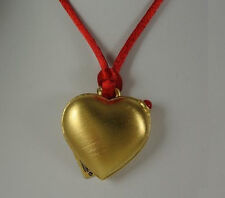 "Estee Lauder Solid Perfume Compact or Picture Locket Necklace ""Love Heart"""