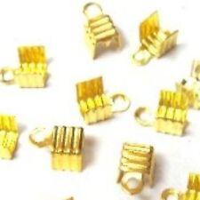 100 un. oro tono Plegable plegadores conectores-a6563