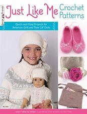 JUST LIKE ME-Flowers/Headbands/Hats Crochet Patterns Book-American Girls Dolls