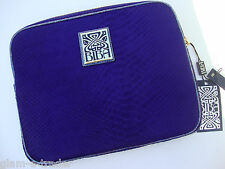 Biba Azul Cuero Mini Ipad / Tablet / Notebook caso Mock Serpiente BNWT £ 89