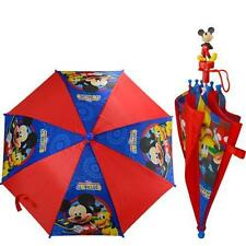 """Disney Mickey Mouse Clubhouse Umbrella 20"""" Molded 3D Handle Perfect for Kids NEW"""