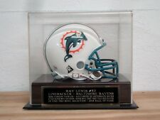 Football Mini Helmet Display Case With A Ray Lewis Baltimore Ravens Nameplate
