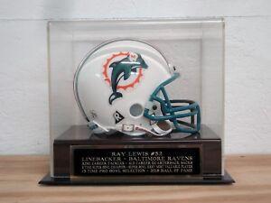 Ray Lewis Football Mini Helmet Display Case W/ A Baltimore Ravens Nameplate