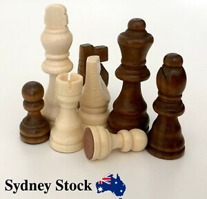 AMBRIZZOLA Francese 76mm Wooden Chess Pieces
