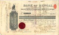 Bank of Bengal > 1898 India stock certificate