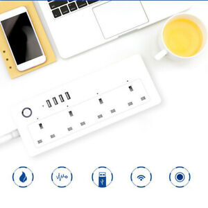 WiFi Smart Socket Extension Lead USB Port Surge Protected Lead UK Alexa Google