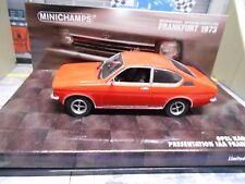 Opel C Kadett Coupe Hell rojo de AJA Frankfurt 1973 presentación Minichamps sp 1:43