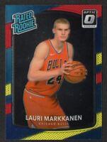 Lauri Markkanen 2017-18 Optic Red and Yellow Rated Rookie #159 Chicago Bulls PWE