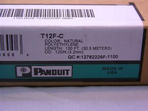 """100Ft Box of Panduit T12F-C .12"""" (3.2mm) Spiral Cable Wrap Natural Color"""