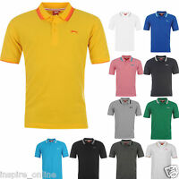 BRAND NEW MENS BOYS SLAZENGER SHORT SLEEVE PLAIN POLO SHIRT CASUAL T SHIRT TOP