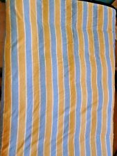 Tommy Hilfiger Fabric Shower Curtain Blue Gold Stripe 68x70