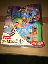 2004 Fisher-Price InteracTV Sesame Street Elmo Cookie Monster Ernie NEW DVD