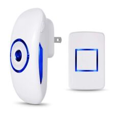 Wireless Led Doorbell Chime 4 Volume 1000Ft 1 Transmitters and 1 Plugin Receiver