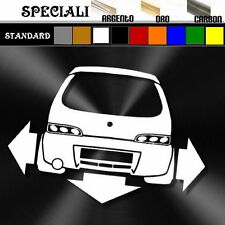 adesivo sticker fiat SEICENTO sporting tuning decal  down-out dub prespaziato