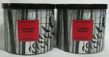 Bath & Body Works 3-wick Scented Candle Lot Set of 2 HALLOWEEN VAMPIRE BLOOD