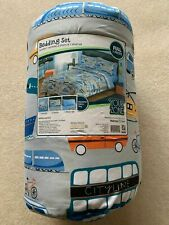Boys Full Comforter Sheet Set 7 pcs Bed in Bag Cars Your Zone Transportation