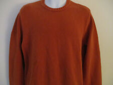 Abercrombie & Fitch Mens Pullover Orange Crew Neck Cotton Sweater Size Large
