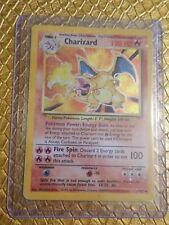 Pokemon CHARIZARD 4/102- BASE SET HOLO UNLIMITED - Light Played