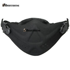 Airsoft Paintball Tactical Protection Half Face Mask Army Outdoor Cycling Black