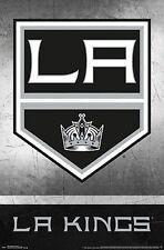 LA KINGS - LOGO POSTER - 22x34 NHL HOCKEY LOS ANGELES 14406