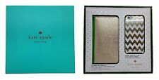 Kate Spade NY Gift Set Box iPhone 6Plus & 6sPlus Gold Wristlet & Chevron Case