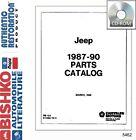 1987 1988 1989 1990 Jeep Part Numbers Book List Guide CD Interchange Drawings OE