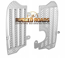 Rugged Roads - Honda Africa Twin CRF1000 - Silver Radiator Guards - 4711S