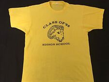 Vintage 80's Edison New Jersey Rams Class Of 1988 Screen Stars T-Shirt L