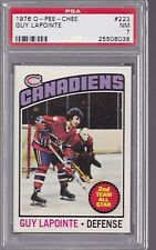 1976 OPC #223 GUY LAPONTE PSA 7 NM Montreal CANADIENS CENTERED! o-pee-chee