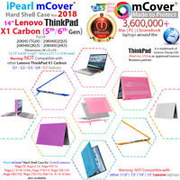 """NEW mCover® Hard Case for 2018 14"""" Lenovo ThinkPad X1 Carbon 5th 6th Gen. Laptop"""