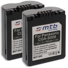 2x Batterie CGA-S006 pour Panasonic Lumix DMC-FZ7 FZ8 FZ18 FZ28 FZ30 FZ35 FZ38