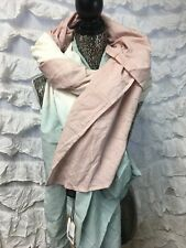 """New Urban Outfitters Blanket scarf ombre pink green cream New 80"""" x 80"""" 1322"""