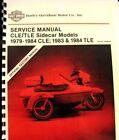 1979-1984 Harley-Davidson Service Manual  CLE/TLE Sidecar Models 1983-84 TLE FSH
