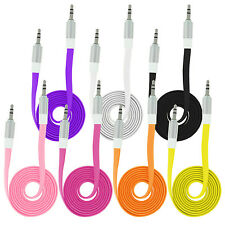 20 x AUX Audio Flachband Kabel 3,5mm Klinkenstecker Klinke Stereo MP3 iPod Handy