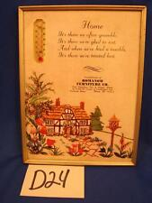 D24 VINTAGE RAMANOW FURNITURE Co. THERMOMETER 42 PREBLE St. PORTLAND MAINE ME