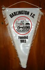 Classic Darlington F.C. Football Team Pennant In Good Used Condition ~ 1980's
