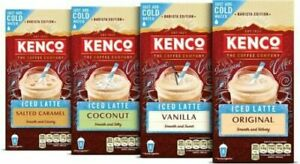 KENCO Coffee Instant Mix, Latte, Cappuccino, Mocha  Iced Latte 8 Sachets NEW