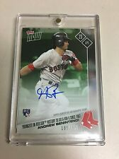 2017 Topps Now ANDREW BENINTENDI Auto on Card #185/199 - In Hand