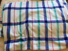Checkered Fleece Throw - Large (87 x 87 inches) - Multicoloured