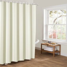 Newly Fabric Shower Curtain Plain Color With Weighted Hem+ Hooks Rings 180*180CM