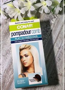Conair Pompadour Comb~Flat to Fab~Adds Height~Secure Hold~NEW KIT~