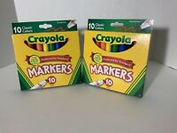 Crayola Classic Markers Broad Line 10 Pcs NEW Preferred by Teacher Non-Toxic USA