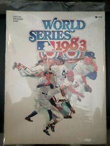 1983 World Series Program Orioles vs Phillies mlb