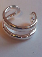 925 STERLING SILVER PLATED ADJUSTABLE DOUBLE RINGS FOR WOMEN THUMB/ FINGER RING