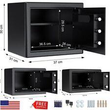 S/M/L Digital Electronic Safe Box Keypad Lock Gun Money Cashes Home Security USA